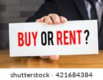buy or rent  message on white... | Shutterstock . vector #421684384