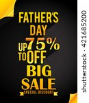 sale banner poster of father's... | Shutterstock .eps vector #421685200