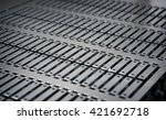 manufactured metal plate from... | Shutterstock . vector #421692718
