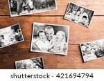 fathers day composition. black... | Shutterstock . vector #421694794
