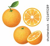 vector set of fresh ripe... | Shutterstock .eps vector #421695289