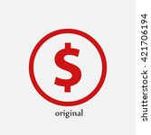 dollar vector icon   Shutterstock .eps vector #421706194