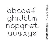 line and circle latin font ... | Shutterstock .eps vector #421714018