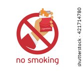 no smoking sign on white... | Shutterstock .eps vector #421714780