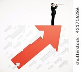 success concept with... | Shutterstock . vector #421716286