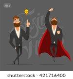 business man. business... | Shutterstock .eps vector #421716400