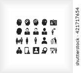 business man icons | Shutterstock .eps vector #421717654