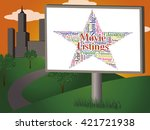 movie listings showing picture... | Shutterstock . vector #421721938