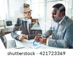 partners at briefing | Shutterstock . vector #421723369