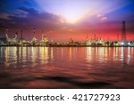 oil and gas industry   refinery ... | Shutterstock . vector #421727923