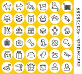 types of pets icons | Shutterstock .eps vector #421728289
