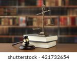 gavel and scales of justice and ... | Shutterstock . vector #421732654