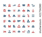 set color icons of agriculture | Shutterstock .eps vector #421736380