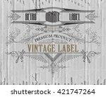 vintage typographic label... | Shutterstock .eps vector #421747264
