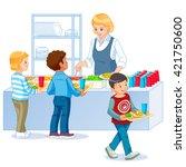 illustration of kids in a...   Shutterstock .eps vector #421750600