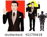 good for animation. man... | Shutterstock .eps vector #421750618