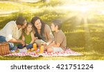 Family Picnicking Together