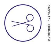 scissors   Shutterstock .eps vector #421753060