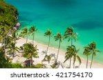 Paradise Beach On Tropical...