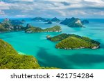 Tropical Group Of Islands In...
