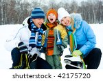 happy young parents going ice... | Shutterstock . vector #42175720