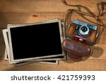 old and vintage camera with... | Shutterstock . vector #421759393