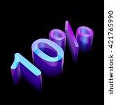 3d neon glowing character 10 ... | Shutterstock .eps vector #421765990
