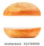 hamburger bun isolated on white ...   Shutterstock . vector #421769050