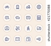 travel web icons.  vacation and ... | Shutterstock .eps vector #421770388