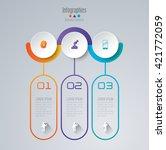 abstract 3d digital... | Shutterstock .eps vector #421772059