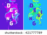 two colorful abstract poster.... | Shutterstock .eps vector #421777789
