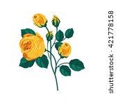 Yellow Rose Hand Drawn...