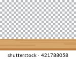 vector wood table top on... | Shutterstock .eps vector #421788058