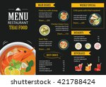 vector thai food restaurant... | Shutterstock .eps vector #421788424