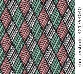 seamless  tribal vector pattern | Shutterstock .eps vector #421794040
