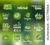 vector eco  organic  bio logos...   Shutterstock .eps vector #421798066