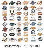 vintage labels collection | Shutterstock .eps vector #421798480