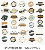 vintage labels collection | Shutterstock .eps vector #421799473