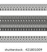 greek key pattern.  vintage... | Shutterstock .eps vector #421801009