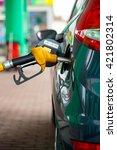 car refueling on a petrol... | Shutterstock . vector #421802314