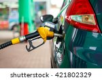 car refueling on a petrol... | Shutterstock . vector #421802329