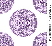 seamless pattern with circle... | Shutterstock .eps vector #421802830