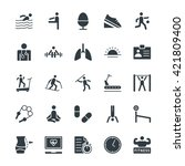 fitness cool vector icons 4 | Shutterstock .eps vector #421809400