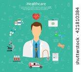 medicine concept vector... | Shutterstock .eps vector #421810384