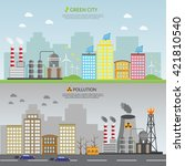 ecology infographic vector... | Shutterstock .eps vector #421810540