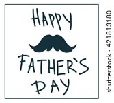 father's day text illustration... | Shutterstock .eps vector #421813180