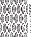 vector seamless pattern with... | Shutterstock .eps vector #421813588