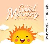 good morning. morning vector... | Shutterstock .eps vector #421820536