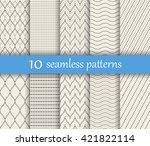 set of ten vector dotted... | Shutterstock .eps vector #421822114