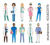 hospital medical team. medical... | Shutterstock .eps vector #421822570